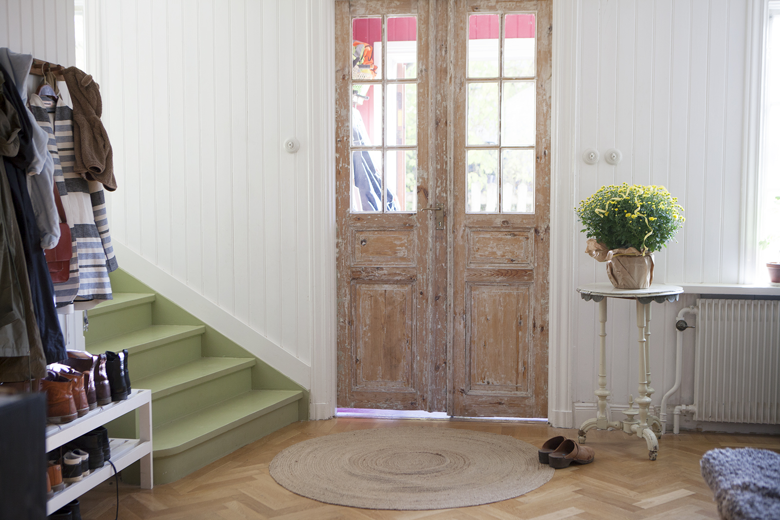 Hall i Amelies hus. Inredning, interior, snygga hallar.