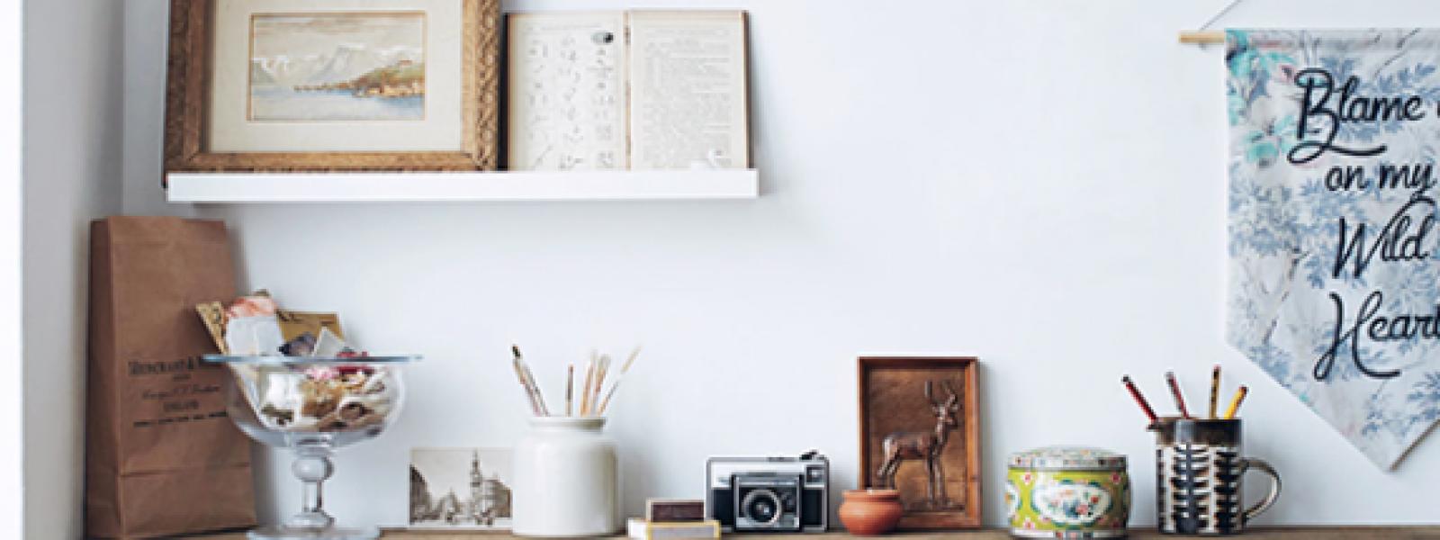 Inspiration skrivbordsplats